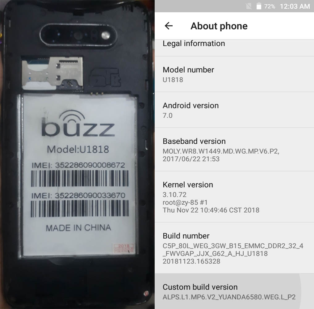 Buzz U1818 Flash File Firmware