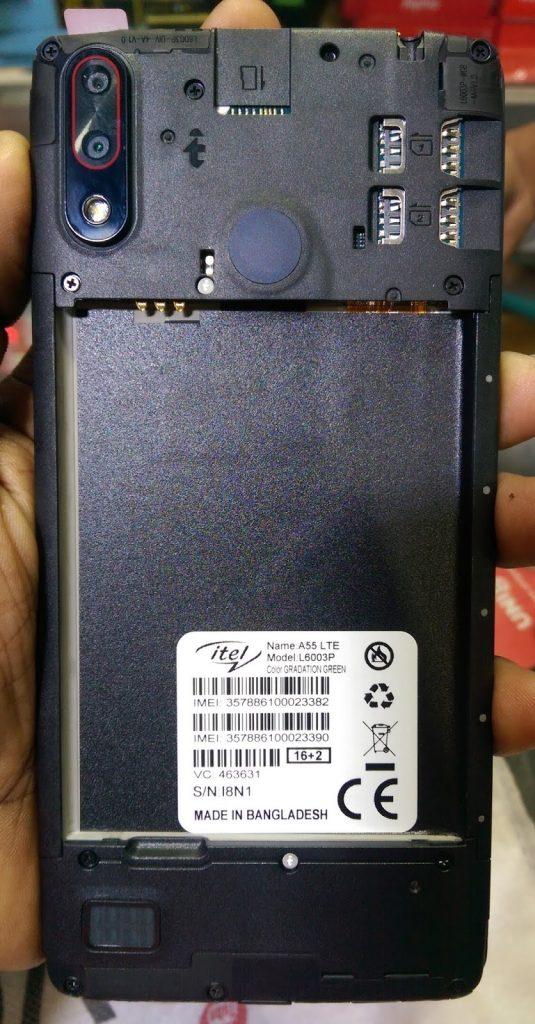 Itel A55 LTE L6003P flash file